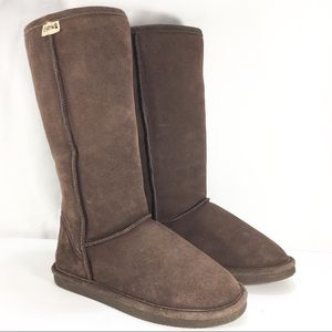 "BEARPAW Brown Suede Leathr 13"" Boot SheepSkin"